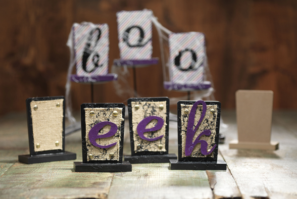 Halloween Burlap Signs