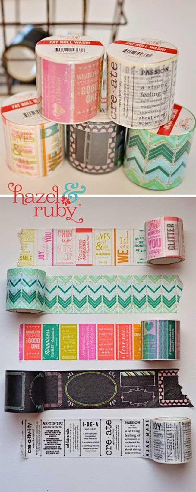 DIY Washi Tape Coasters