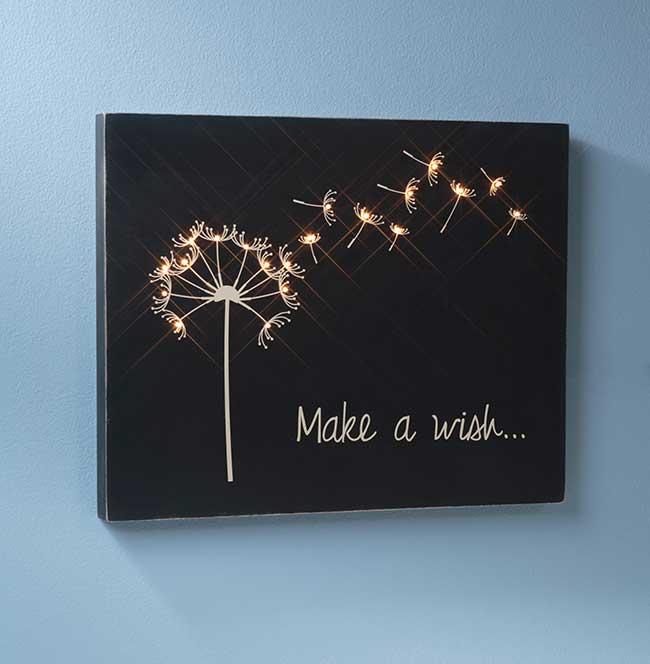 Make a Wish Wooden Canvas