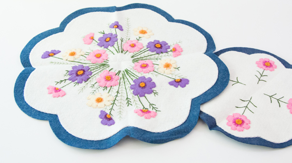 Cosmos Centerpiece and Candle Mat