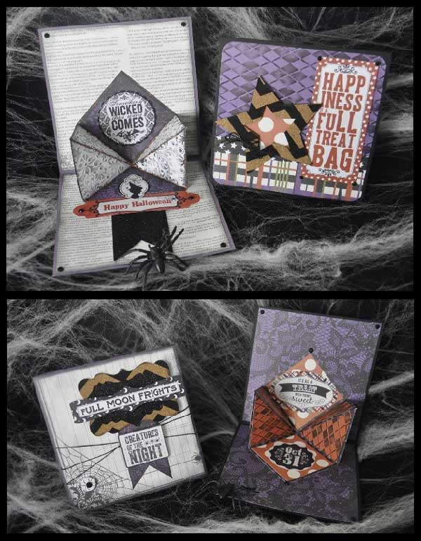 Authentique Spirited Origami Clock and Card