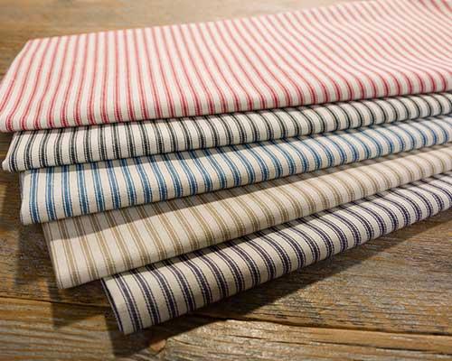 Cotton Woven Ticking Stripe Canvas