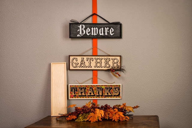 Fall Wood Sign Plaques