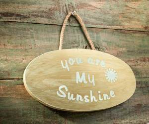 "Hazel and Ruby Handmade ""You are My Sunshine"" Plaque"