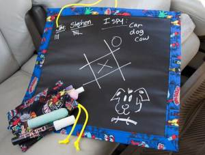 Roll Up Chalk Cloth Bag and Travel Game Board