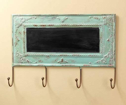Vintage Chalkboard with Hooks