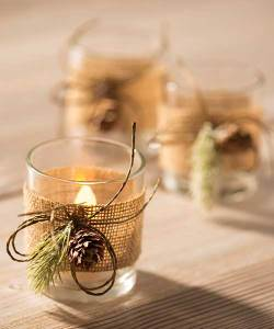 Fall decor candle holders