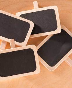Mini Chalkboard Clips