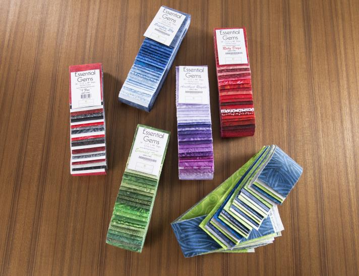 Essential Gems Cotton Fabric Strip packs