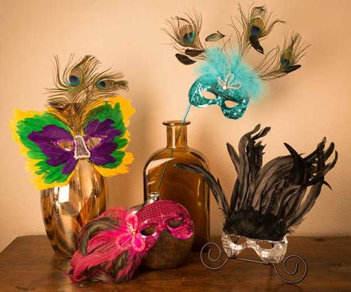 Finished Feather Masks