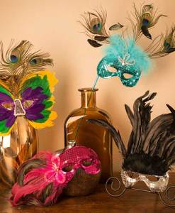 Finished Feather Masks