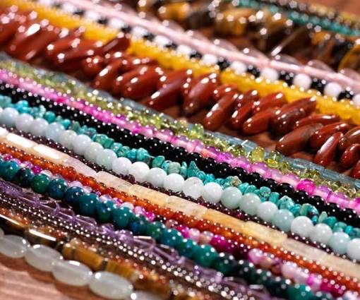 Colorful Gem Stone Strands