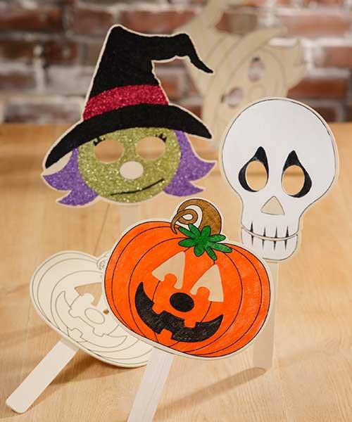 Unpainted Halloween Masks
