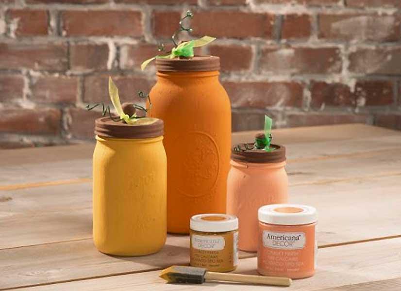 Pumpkin DIY Mason Jars