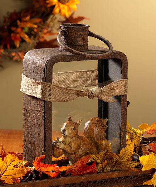 Rusty Rectangle Lantern with Handle