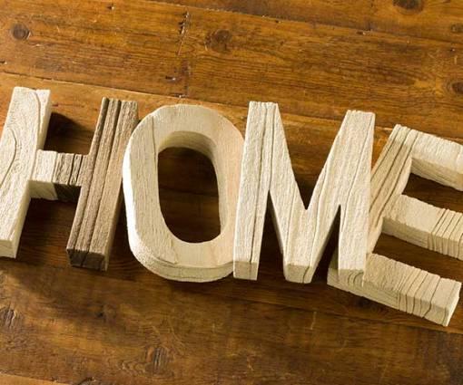 Wood Letter Set - Home
