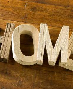 Wood Letter Set - Home