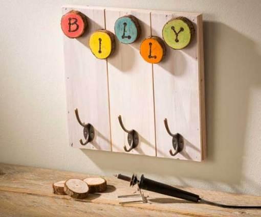 Small Wood Slat Board - hangers