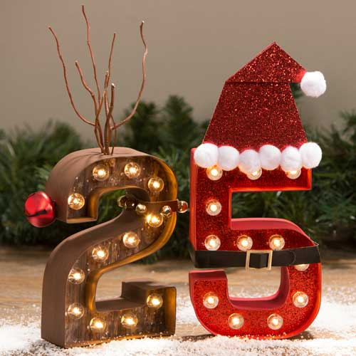 25 Christmas Marquee Letters