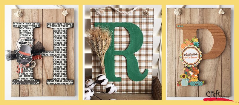How to Make a Fall Monogram Sign