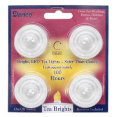 4 pack of battery operated tealights