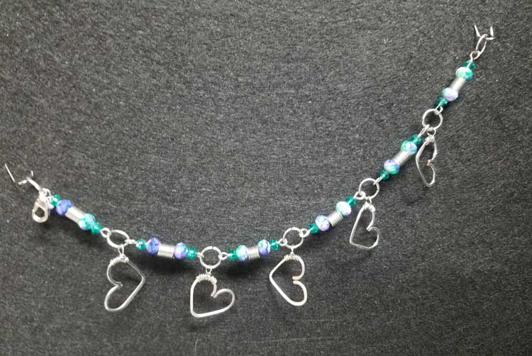Silver Heart Charm Bracelet @ Kennewick Location  | Kennewick | Washington | United States