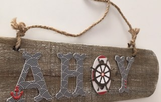 My Minds eye by the sea drift wood sign