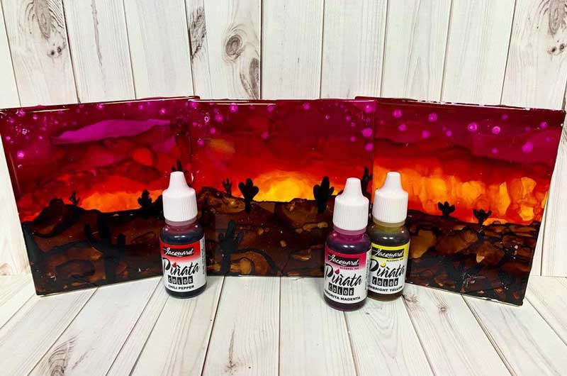 Wild Wednesday: Alcohol Ink Tile Painting Class