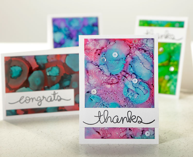 Make & Take - Alcohol Ink Card @ All Locations
