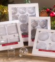 Clear Glass Boxed Ornaments