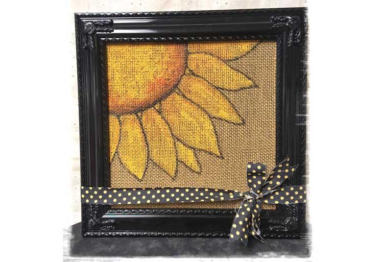 Burlap Sunflower Wall Art @ Meridian Location | Beaverton | Oregon | United States