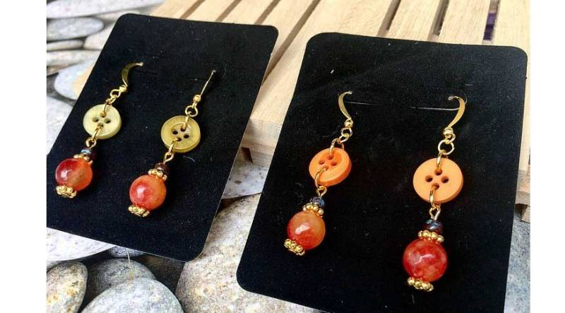 Colors Of Fall Button Earrings @ Hazel Dell Location | Vancouver | Washington | United States