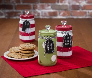Mason jar decoart chalky paint