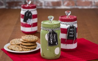 Mason jar decoart chalky paint