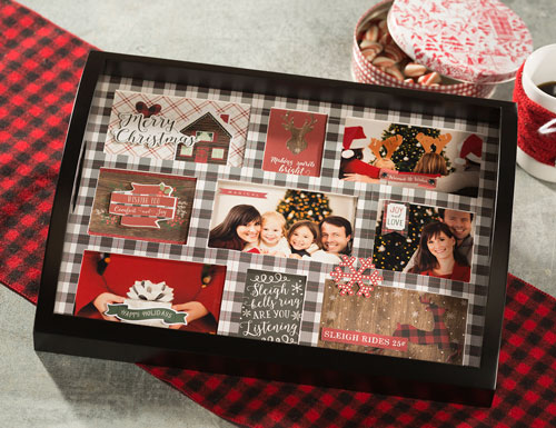 Make a Christmas Photos Collage Tray from Craft Warehouse