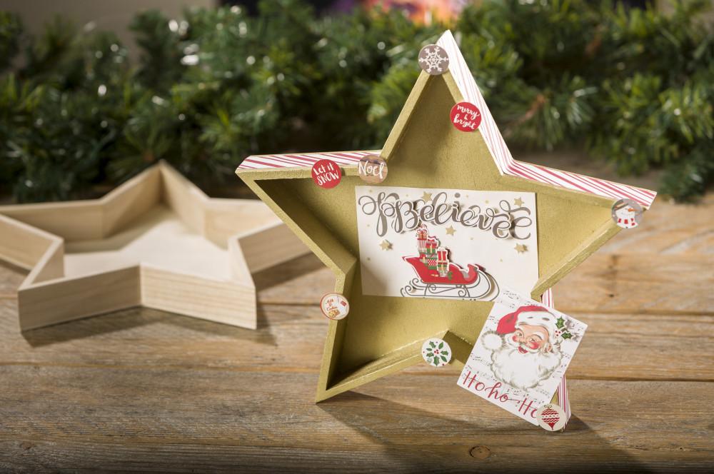 Christmas holiday Wood Star Tray decor