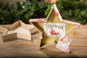 Christmas holiday Wood Star Tray decor