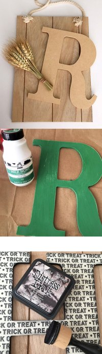 Decorate a Monogram Sign for Halloween or Fall