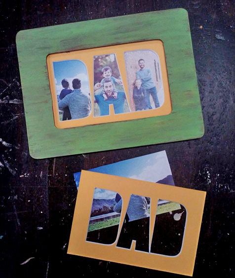 Cut out Dad Photo Mat