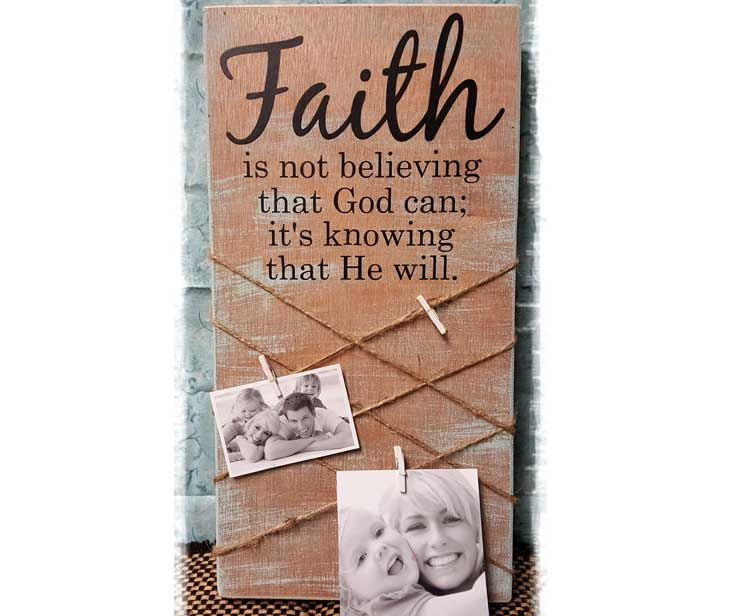 Faith Picture Plaque @ Meridian Location | Meridian | Idaho | United States