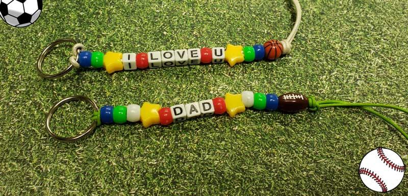 Father's Day Sports Theme Keychain
