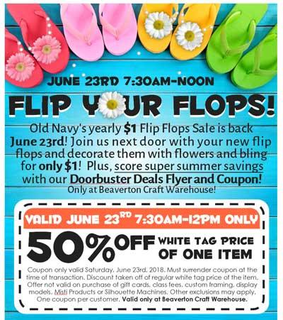 Flip Your Flops Sale