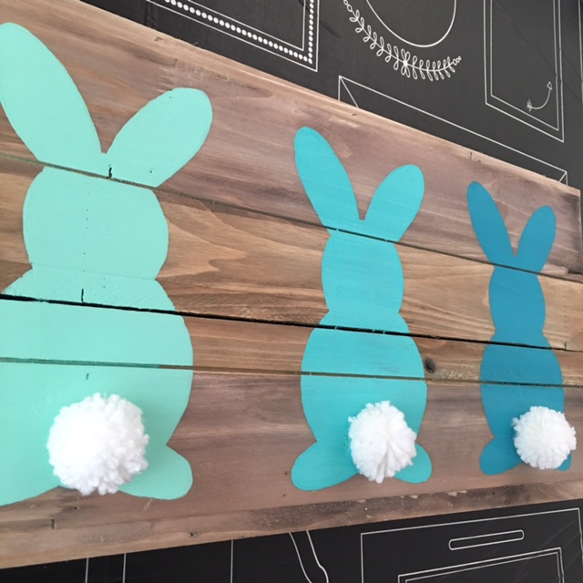 Ombre easter bunnies art