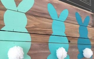 Ombre easter bunnies art