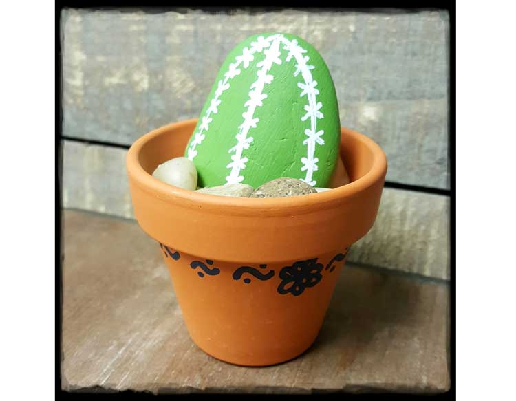 Cactus Rock Art Planter @ Meridian Location | Meridian | Idaho | United States