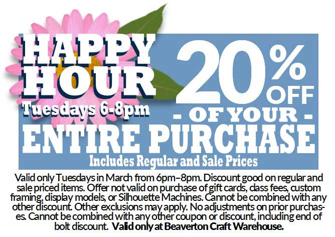 Happy Hour - 20% OFF @ Beaverton Location | Beaverton | Oregon | United States