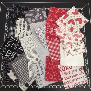 moda mini charm pack fabric