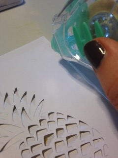 Hero Art Pineapple dir cut tombow tape runner