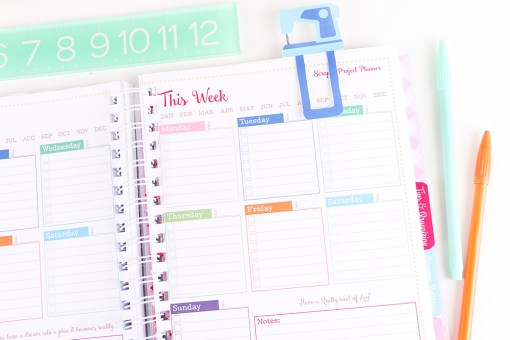 Weekly Schedule of Scrappy Project Planner at Craft Warehouse
