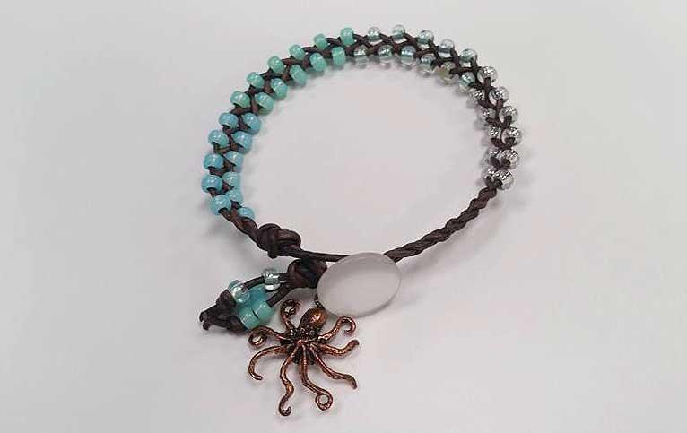 Jewelry Workshop - Ocean Leather Bracelet @ Medford Location | Medford | Oregon | United States